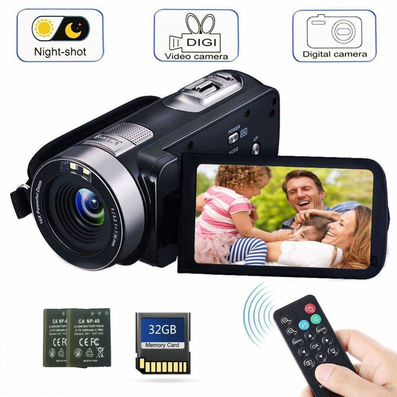 24MP 1080 HD Digital Camera Photo Camera Anti-Shake Camcorder Video CMOS Micro Camera Face Detection Function Cameras Digitais