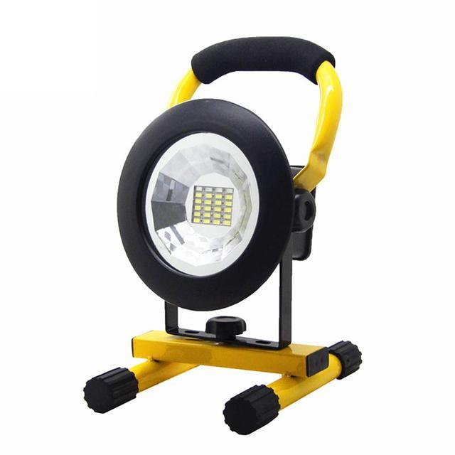30 W 24SMD Handheld Recarregável LEVOU Projetores Projector Ao Ar Livre Paisagem Lâmpada À Prova D' Água (Luz Branca Quente)