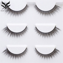 3 Pairs False Eyelashes Hand Made Natural Long Fake Crisscross Messy Beauty Cosmetic Faux Cils