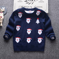 Santa Claus kids sweater 2016 autumn double-layer cotton high-quality boys and girls knitted sweater tops children's clothing