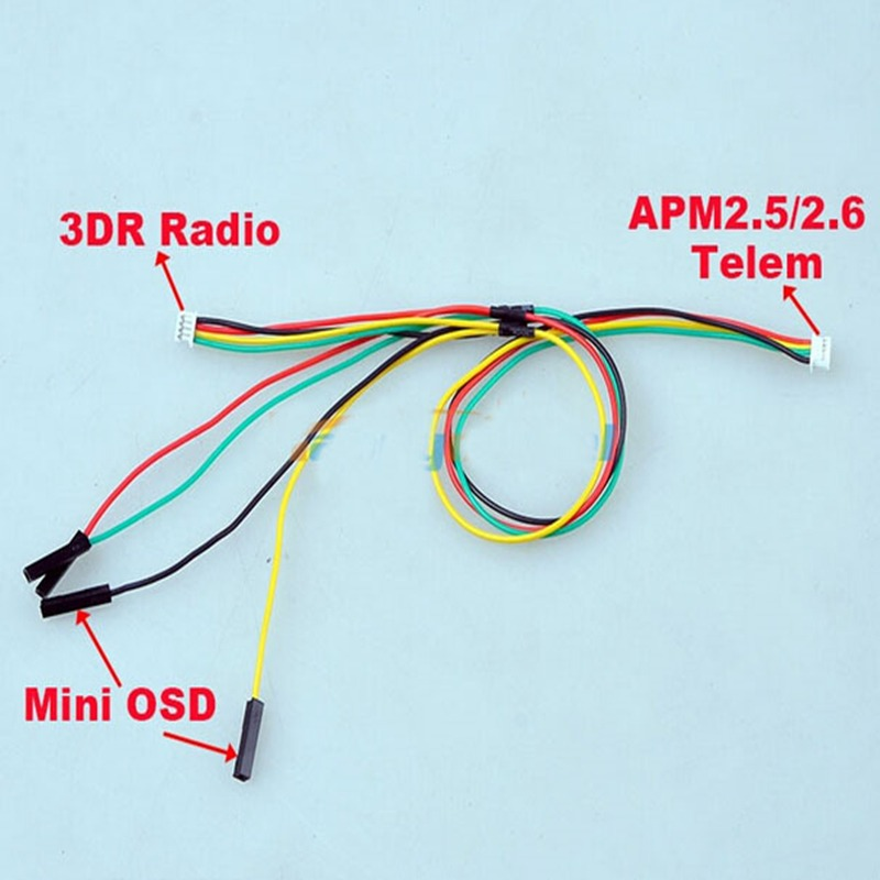 apm 2 5 2 6 connect to 3dr telemetry radio osd y type cable rh aliexpress com