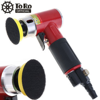 TORO 2 Inch Straight Heart High-speed Polishing Mini Pneumatic Sanding Machine with Push Switch and Sanding Pad for Grinding