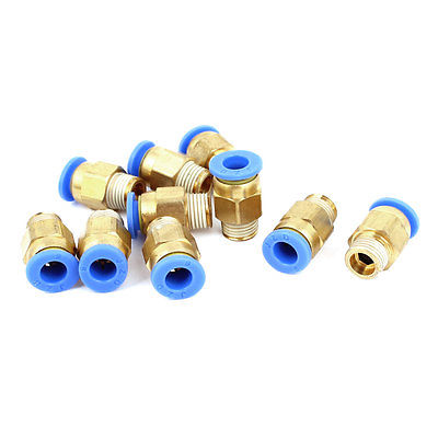 6mm Tube 1/8BSP Male Thread Quick Connector Pneumatic Air Fittings 12 Pcs 100pcs pu6 pu 6 white color tube fittings pneumatic quick plug connection through pneumatic joint air pneumatic 6mm to 6mm pu 6