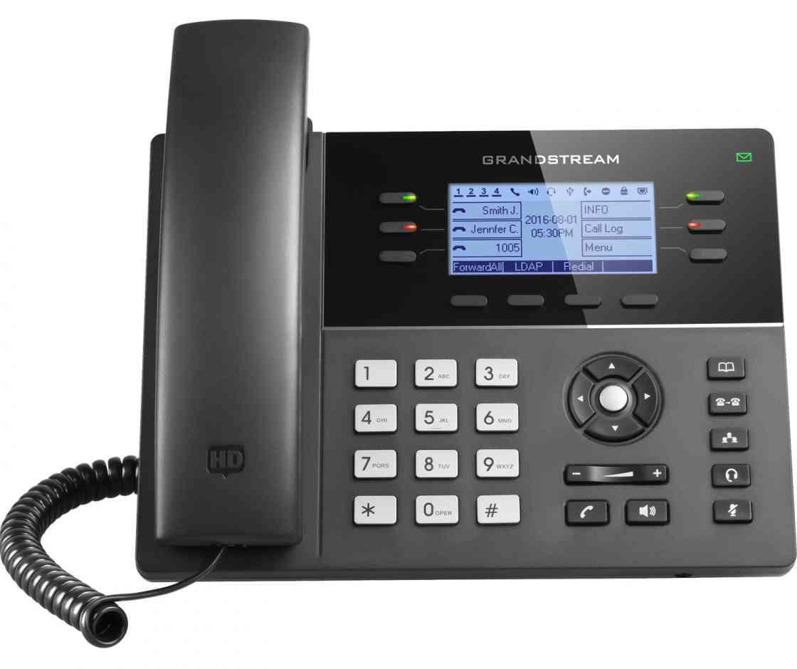 Téléphone à cadran IP GRANDSTREAM GXP1760 6 lignes 3 écran SIP LCD