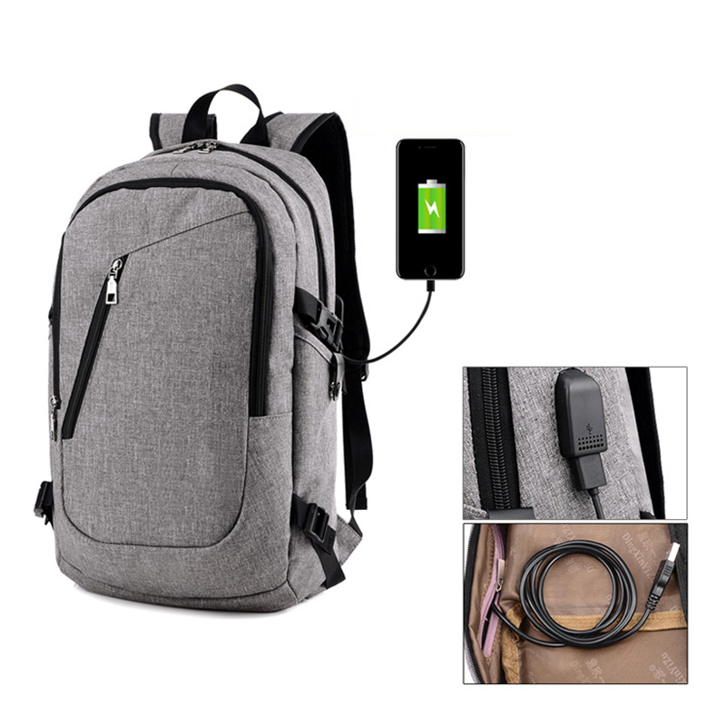 Multifunction USB Charging Laptop Backpacks Teenager Casual Travel Backpack Anti Thief Rucksack Popular