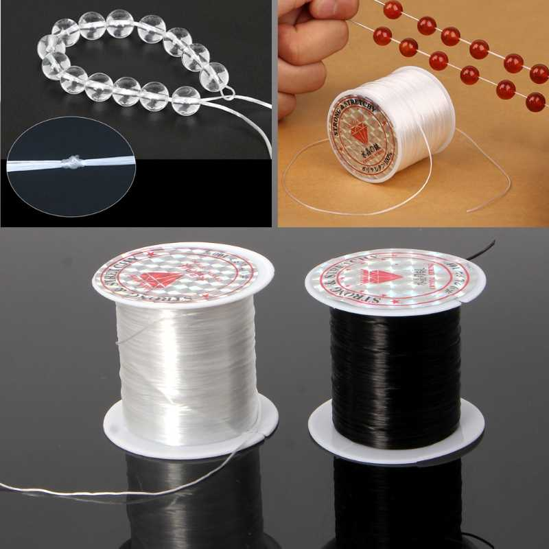 10M/Roll 0.8mm Elastic Cord Thread Jewelry Accessories Beading Line Strong Crystal String Cord DIY Necklace Bracelet
