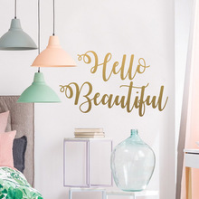 Family hello beautiful Wall Sticker Self Adhesive Vinyl Waterproof Art Decal Removable Background
