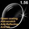 Бесплатная Доставка индекс 1.56 HC Зеленый Покрытие AR CR-39 Смолы Очки Диоптрий Линзы Rx Линзами за Близорукости л Пресбиопии