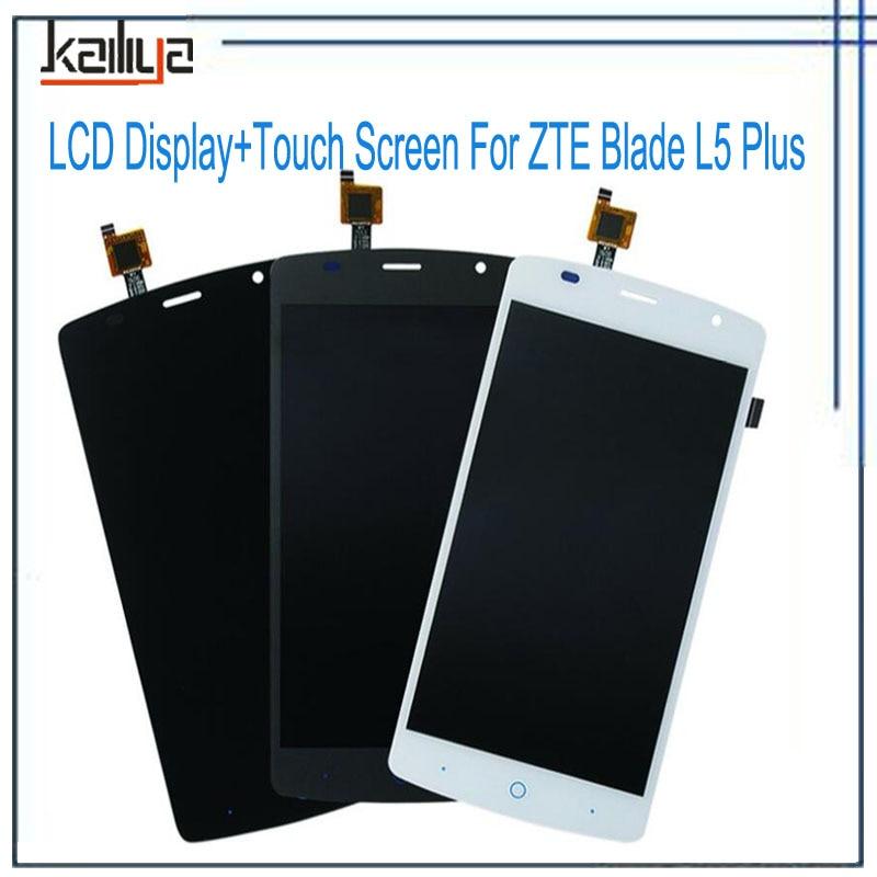 100% Original New LCD Display For ZTE Blade L5 Plus +5.0 Black Gray Touch Screen Digitizer Glass Sensor Panel Replacement100% Original New LCD Display For ZTE Blade L5 Plus +5.0 Black Gray Touch Screen Digitizer Glass Sensor Panel Replacement