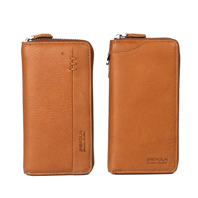 Top Quality Men Wallets Long Large Capacity Male Wallet Cell Phone Pocket Wallets Card Holder Clutch Male Zipper Coin Pocket