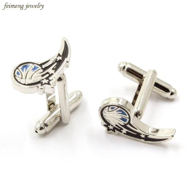 Florida American Basketball Logo Cuff Links Fashion Silver Plated Brand Cuff Buttons French Style Competition Cufflinks For Mens