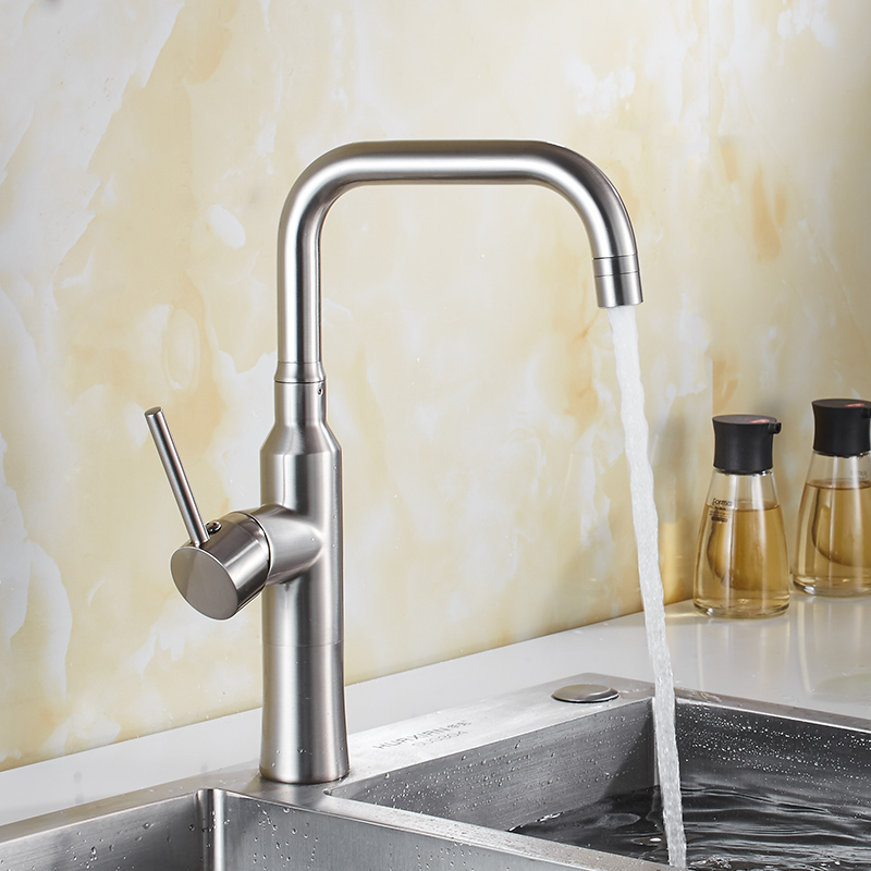 Kitchen Faucet Chrome/nickel/black Sink Mixer Tap 360 degree rotation kitchen mixer taps Hot and Cold Swivel Kitchen TapKitchen Faucet Chrome/nickel/black Sink Mixer Tap 360 degree rotation kitchen mixer taps Hot and Cold Swivel Kitchen Tap