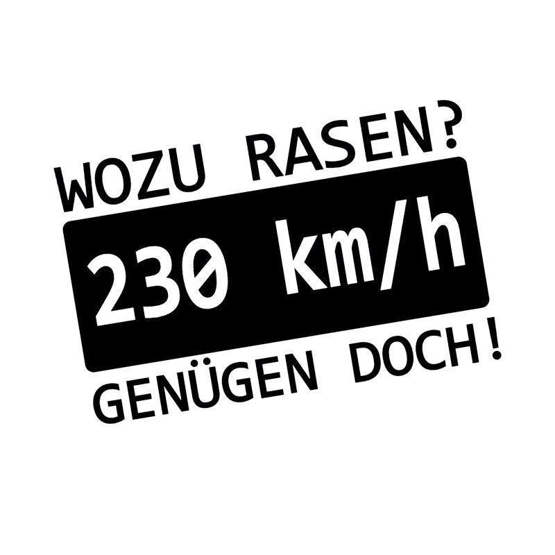 15 9 5cm Auto Motorrad Aufkleber Wozu Rasen Speed 230 Kmh Sticker Tuning Marathon Runners Motorcycle Vinyl Decals in Car Stickers from Automobiles Motorcycles