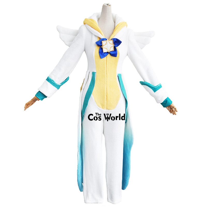 LOL Soraka Sleepwear Homewear Hooded Pajama Guardian Outfit Cosplay Costumes 2