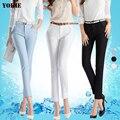 Plus size S-XXXL 2016 Mulheres verão harem pants capris cintura alta strenth escritório patchwork terno calças calças das senhoras do sexo feminino