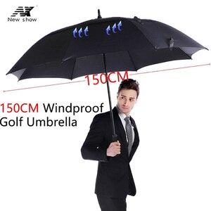 Image 2 - مظلة الجولف من طبقة مزدوجة كبيرة مبتكرة من NX 145 سنتيمتر إلى 150 سنتيمتر مظلة رجالية طويلة مقاومة للرياح للرجال