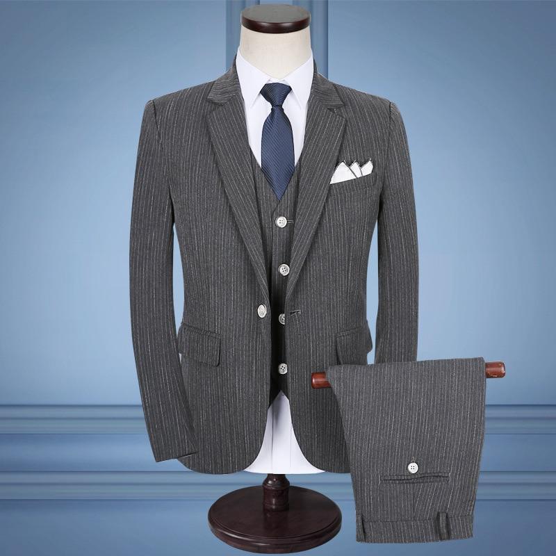 Pantalon Costume Taille 5xl Costumes costumes Veste pièce De 2018 Décontractée Gilet Tz70 D'affaires Rayé Trois Hommes tz75 Nouveaux tz69 dwCW0qn6C