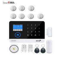 SmartYIBA WIFI GSM Auto Dial RFID Wireless Alarm Security Door Open Motion Sensor Fire Protection SMS APP Control Alarm System