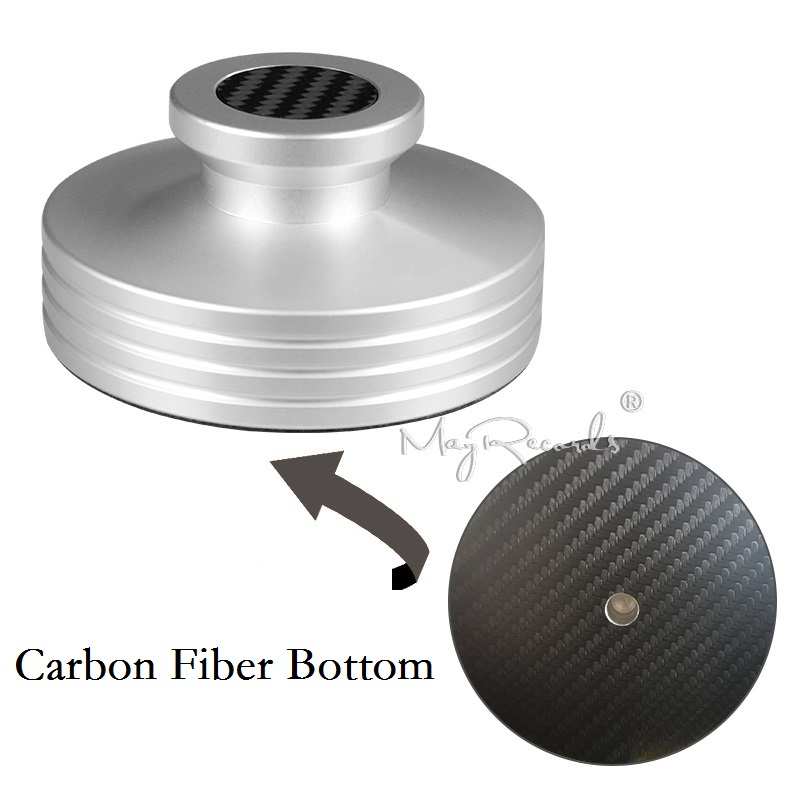 Carbon Fiber Bottom Abum LP Record Clamp Disc Stabilizer Record Weight Super Nice Design 334g