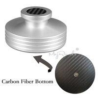 Fundo de Fibra De carbono Braçadeira Registro LP Disco Estabilizador Abum Peso Recorde Design Super Agradável 334g|Plat. rotat.| |  -
