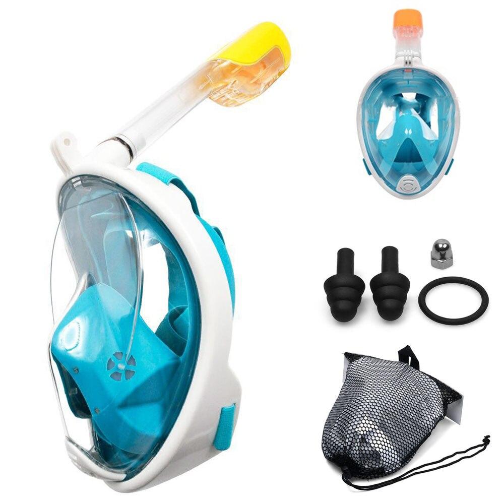 2019 nuevo buceo subacuático Anti niebla máscara de buceo de cara completa Snorkeling Set máscaras respiratorias equipo de natación seguro y resistente al agua