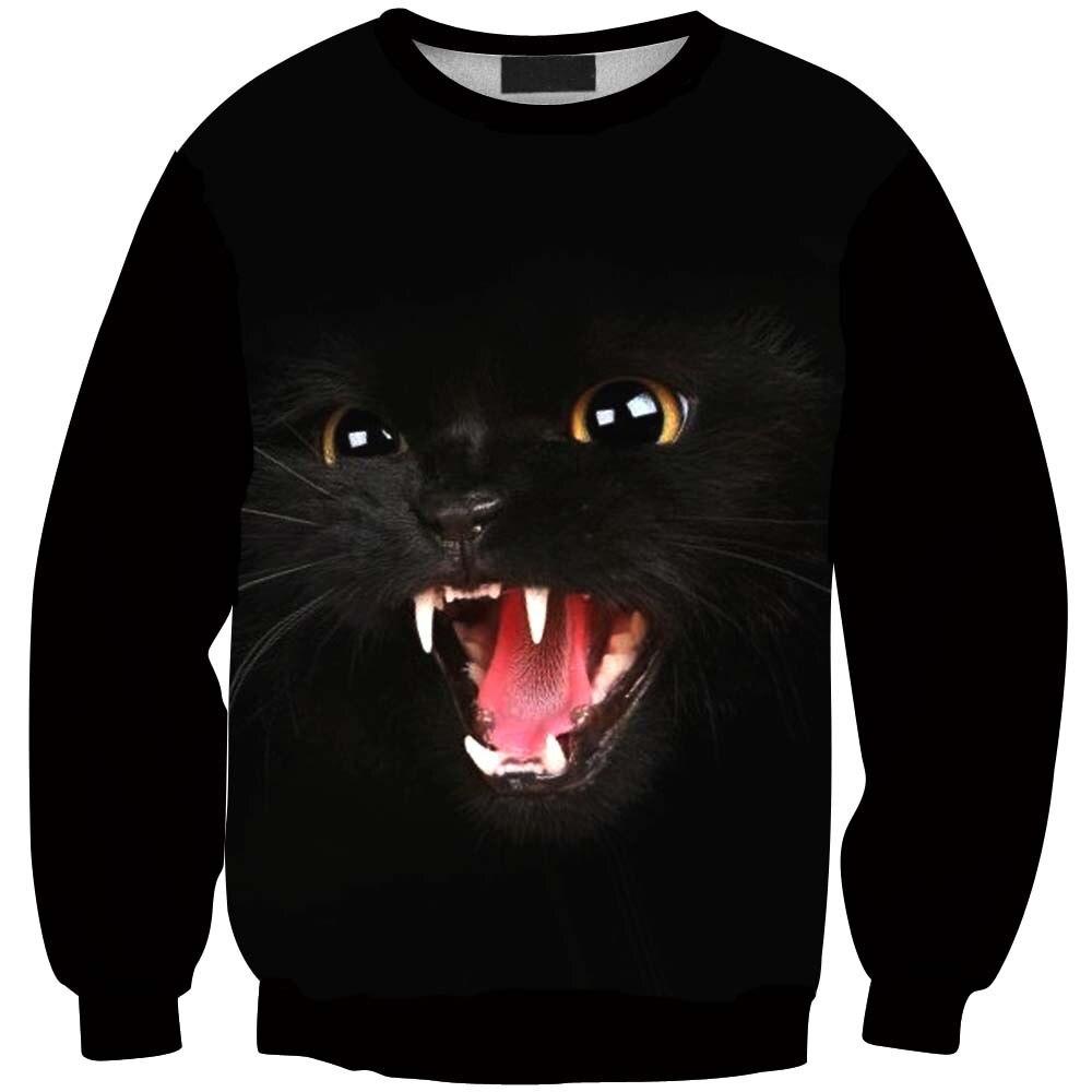 Pullover Jumper Black Cat Sportswear Print 3D Hoodie Men Women Cartoon Sweatshirt Harajuku 3D Clothing Sweats Tops S-6XL R3136