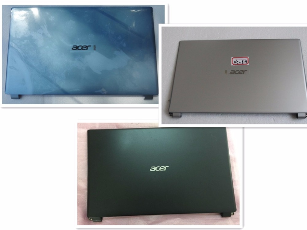95% New Original For Acer V5-571 531 V5-531P V5-571P Touch LCD Rear Top Cover Shell Lid Silvery for Touch Screen + LCD Hinge  цены
