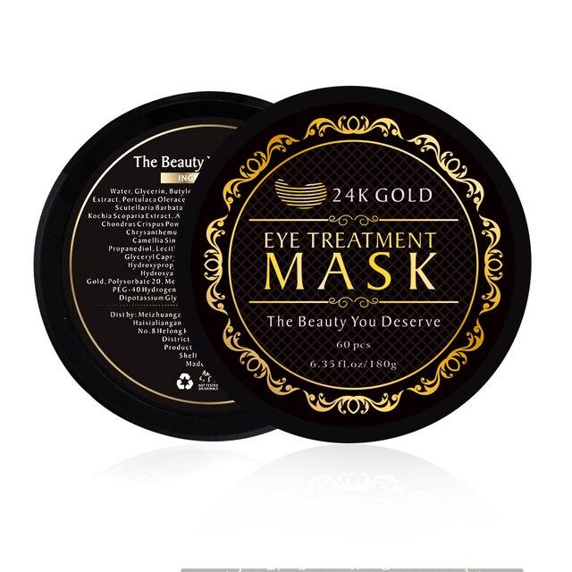 60pcs Collagen Eye Mask Under Eye Patches Gel 24K Gold Hydrogel Crystal Sleep Mask Sheet Pads Dark Circles Ageless Skin Care 2