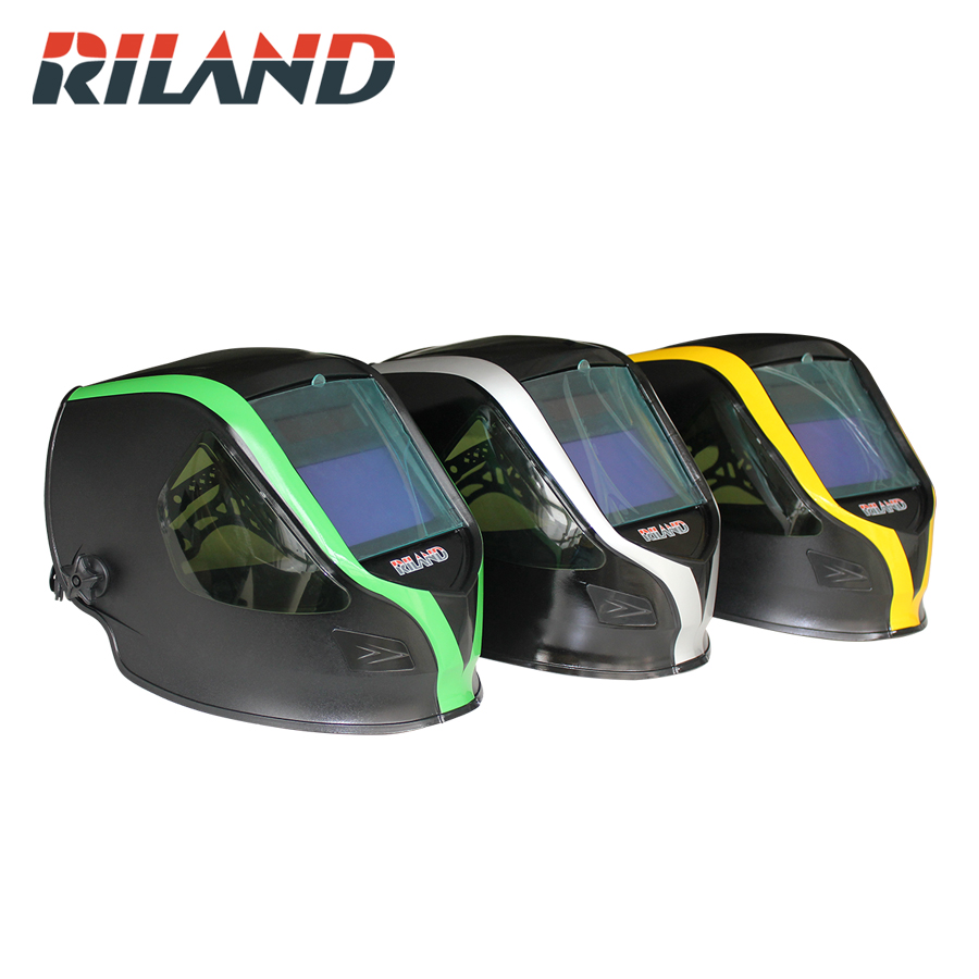 цена на RILAND X9000 Auto Darkening MIG MMA Electric Welding Mask/Helmet/Welding Lens for Welding Machine or Plasma Cutter