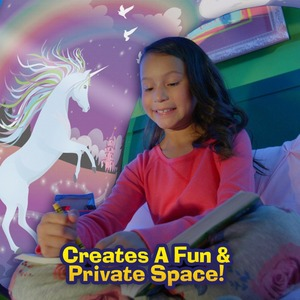 Image 5 - BUY 1 TENT GET 1 LED 3D Printed Quality Dream Tents  With Led Light Unicorn Space Twin Size Children Kid Birthday Christmas Gift