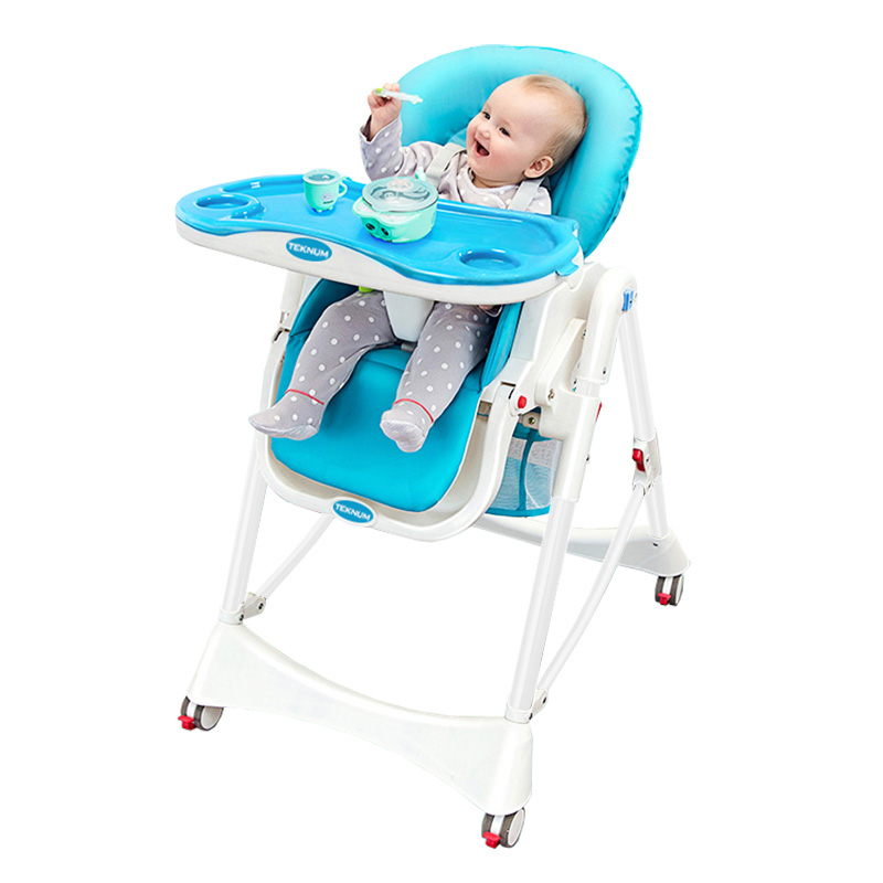 Multifunctional Baby Dining Chair Foldable Portable Baby Eating Chair Dining Table Seat PU Material Easy To Clean
