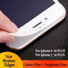1 шт. 3d изогнутый край полное покрытие из закаленного стекла для iphone 6s 6s плюс премиум протектор экрана закаленное стекло защитная фильм