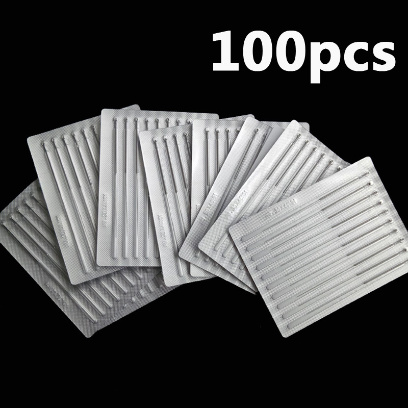 Disposable Sterile Acupuncture Needle acupunture ZhenJiu For Single 100pcs Per Pack stainless steel disposable sterile acupuncture needle for single use100pcs box massage needle 0 25 0 3 0 35