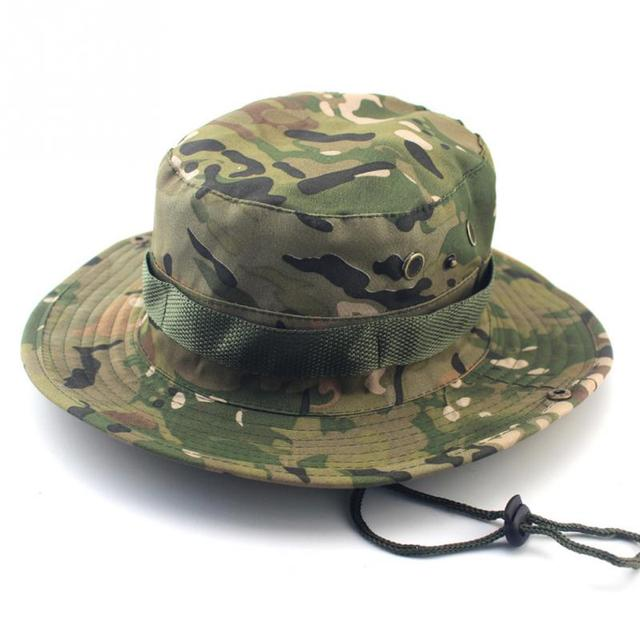 e843c77806d Tactical Bucket Boonie Hats Airsoft Sniper Camouflage Nepalese Cap Military  Army American Military Accessories Men