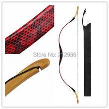 Longbowmaker Handmade Kids Bow Red Snakeskin Archery Hungarian Style Practice Longbow For Beginner 10-25LBS PRS