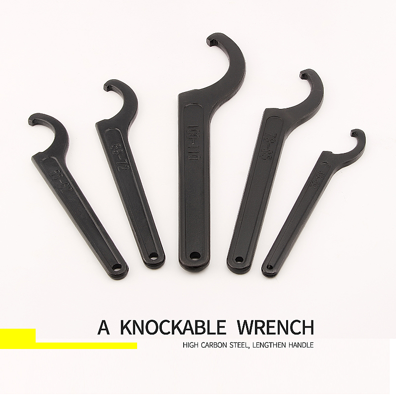 Image 5 - 1pcs Round Nut Hook Spanner Mill Holder Half Moon Wrench 22 26 34 36 38 42 45 52 55 62 85 105 90 95 165 170-in Wrench from Tools