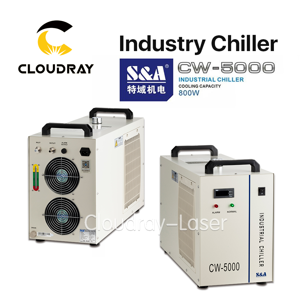 Cloudray S&A CW5000 Industry Air Water Chiller for CO2 Laser Engraving Cutting Machine Cooling 80W 100W Laser Tube cw5000 industry air water chiller for co2 laser engraving cutting machine cooling 80w 100w laser tube