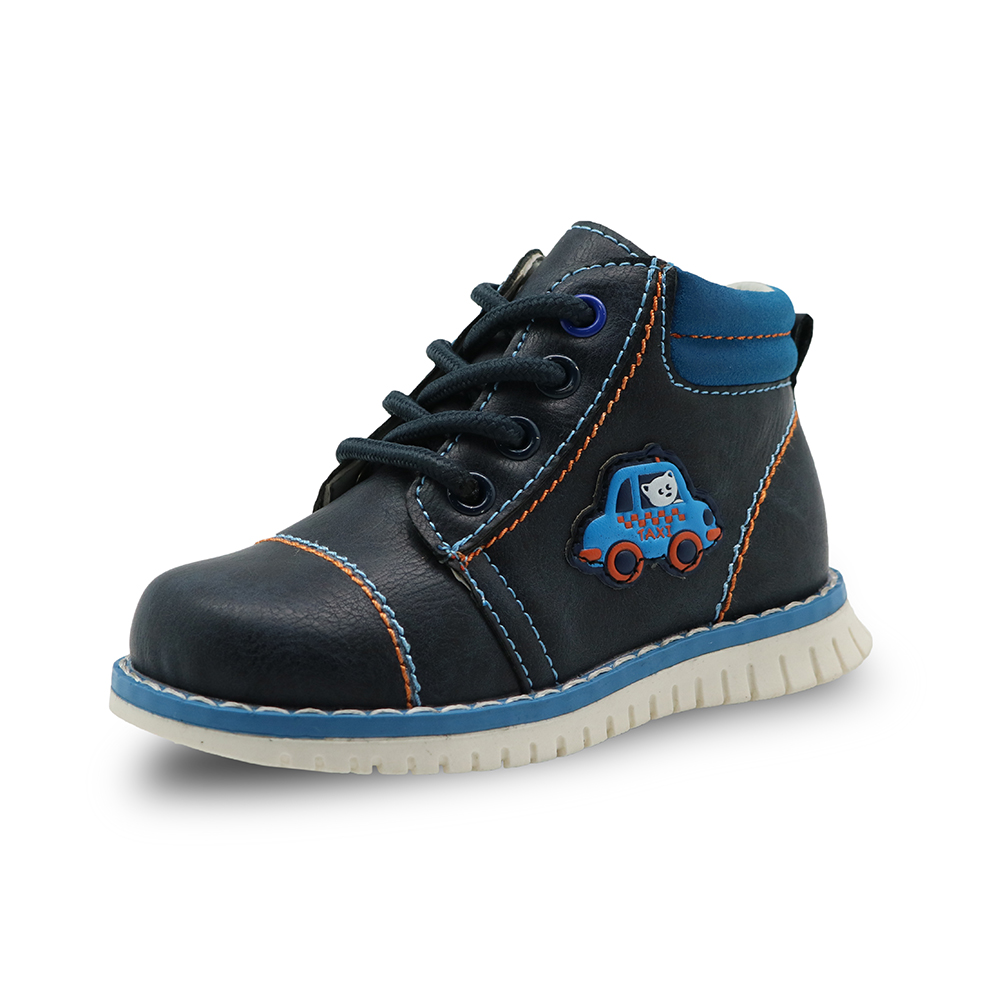 Apakowa Spring Autumn Boys Child Kids Shoes Pu Leather Ankle Toddler Boys Boots Children Fashion Zip Martin Boots Solid shoes apakowa autumn spring winter toddler boys martin boots with zipper kids fashion ankle boots for boys kid shoes with arch support