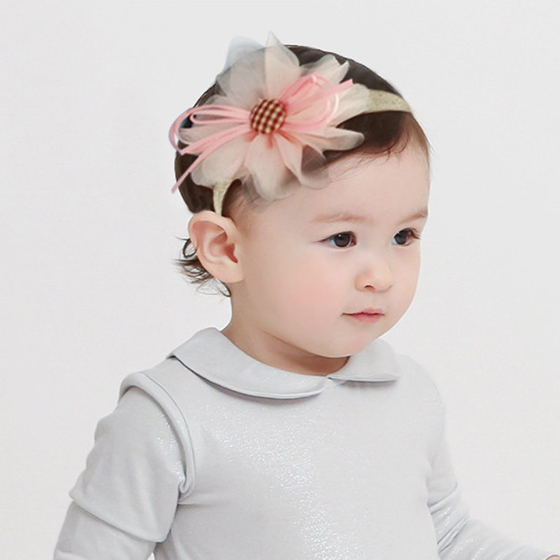 3 Pcs/Lot  Baby Headband Crown Flower Bows