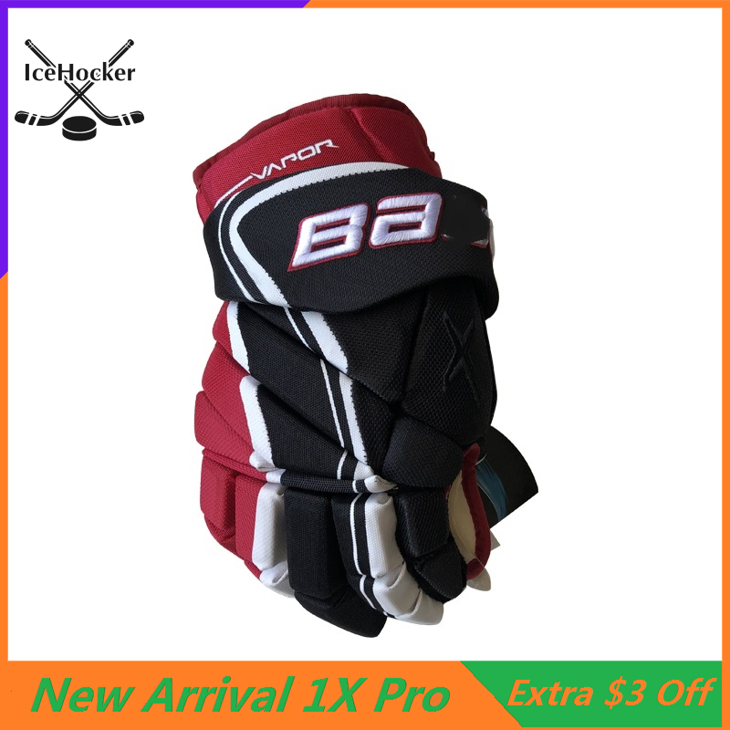 "Professional Protective Ice Hockey Gloves 1X Pro 13"" 14"" Professional Athlete Hockey Glove Free Shipping"