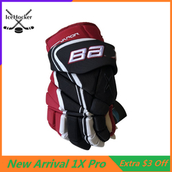 Professional Protective Ice Hockey Gloves 1X Pro 13 14 Professional Athlete Hockey Glove Free Shipping