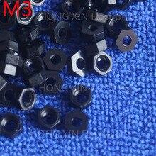 цена на M3 1 pcs black nylon hex nut plastic nuts RoSH Hexagonal PC Electronic accessories Tools etc