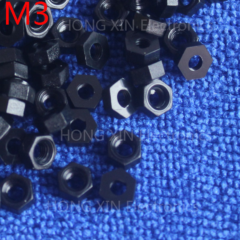 M3 1 pcs black nylon hex nut 3mm plastic nuts RoSH Hexagon PC Electronic accessories Tools