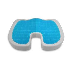 Image 2 - U รูปร่างซิลิโคนเจลเบาะ Thicken เบาะโฟมหน่วยความจำนุ่มเบาะรองนั่งฤดูร้อนเก้าอี้เบาะที่นั่ง