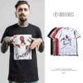 FORGIVENESS 2017 spring and summer tide brand new men's rapper portrait printing mencotton  T shirt