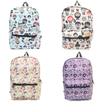 Hogwarts 학교 시리즈 배낭 학교 가방 bookbag pu 가죽 컴퓨터 백백 노트북 어깨 가방 여행 가방 선물