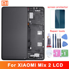 "5.99 ""ips display para xiaomi mix 2 lcd tela de toque digitador substituição para snapdragon 835 xiaomi mi mix 2 lcd mix2(China)"