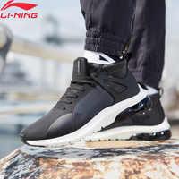 (Dédouanement) li-ning hommes bulle UP II mi élégant style de vie chaussures Mono fil respirant doublure chaussures de Sport baskets AGLN119 YXB236
