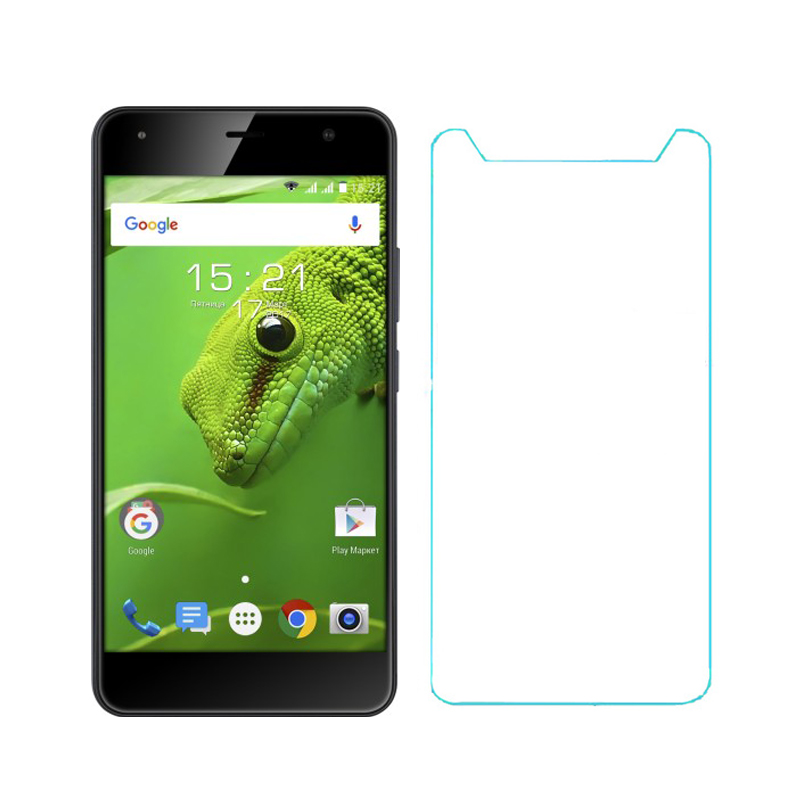 2PCS Tempered Glass For Fly FS517 Cirrus 11 Screen Protector 5 inch 9H 2.5D Tempered Glass Film front LCD Glass Film ^