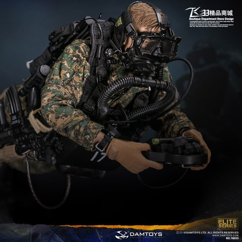 For Collection 78055 1/6 Collectible USMC RECON COMBAT DIVER WOODLAND MARPAT Camouflage Version Model for Fans Gift 2